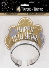 Bubbly New Year Tiara 4Pk